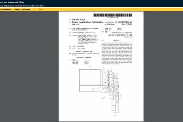 Apple patenta su bisagra para su smartphone plegable