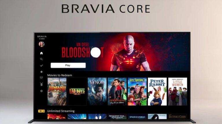 Sony lanza Bravia Core, su Netflix de alta calidad
